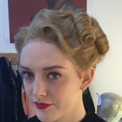 1940s wig and makeup